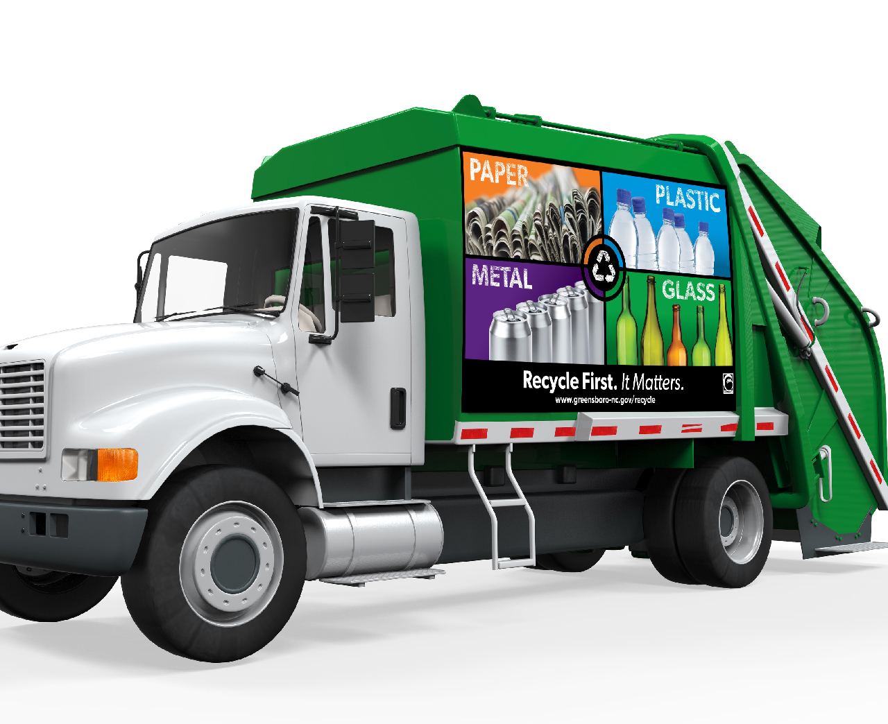 Greensboro Recycling Truck Graphics